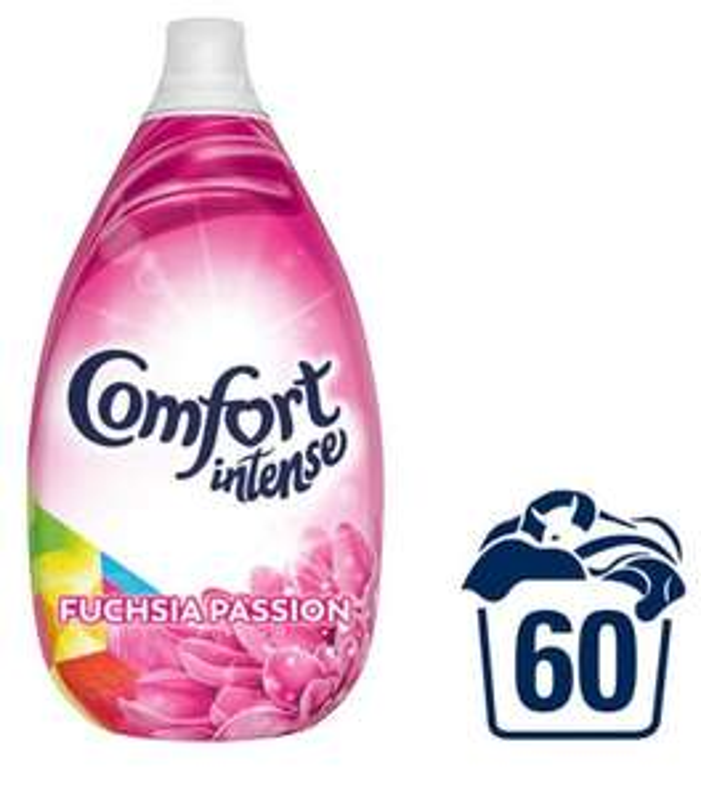 Comfort Intense Fuchsia Passion / Fresh Sky Fabric Softener Liquid 60 Wash 900 ML £2.50 at Iceland
