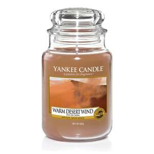 Yankee Candle-Large classic 'Warm Desert Wind' scented jar candle £12 (small £4.50 +more in OP) @ Debenhams