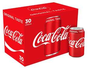 30 Cans of Regular Coca-Cola £10 on Amazon Prime Now (33p/can) (£40 min spend)