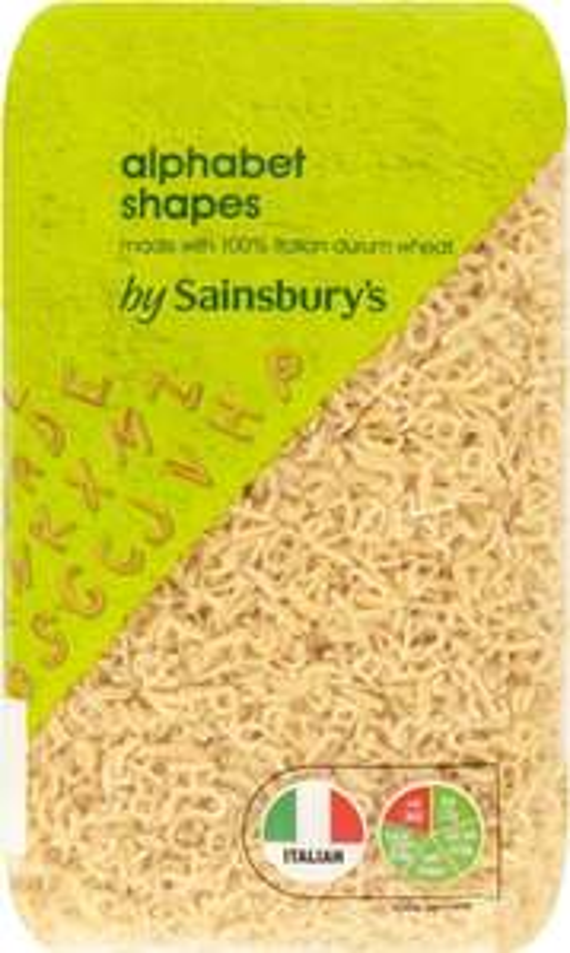 Sainsbury's Alphabet Shapes 500g £0.15 @ Sainsbury's