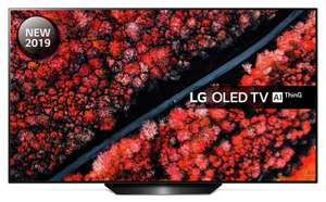 """LG OLED55B9PLA (2019) OLED HDR 4K UHD TV, 55"""" Freeview Play/Freesat HD, Dolby Atmos Silver- £1299 @ John Lewis & Partners (+5 yrs guarantee)"""