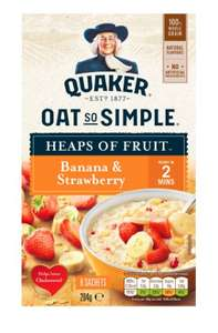 Oats so simple strawberry and banana £1 b&m