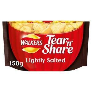 Walkers tear & Share packs 150g 20p @ Sainsburys (Eltham SE London)