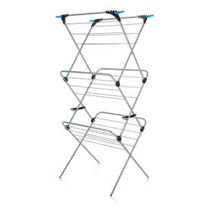 Minky Plus 21m 3 Tier Indoor Clothes Airer with Flip Outs for £14 @ George (free c&c)