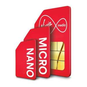 15GB Data - Unlimited Mins /Texts (With Data Rollover) + Topcashback (£48) £13pm (12m Contract) @ Virgin media