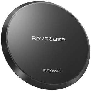 RAVPower Wireless Charger Upgraded Qi-Certified Wireless Charging Pad 10W £7.99 Prime / +£4.49 Non prime sold by S.M UK-Tech & FBA