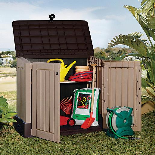 Keter Store It Out Midi Plastic Garden Storage Beige & Brown - 2 X 4 Ft 845L £70 @ Wickes C&C