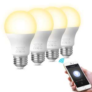WiFi Smart Bulb AISIRER Alexa Light Bulbs No Hub Required Compatible with Alexa Google Home - £36.54 Sold by Ares-EU and Fulfilled by Amazon