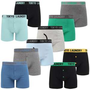 10 pairs of boxer shorts for £30 with code + Free delivery + Free washbag @ Tokyo Laundry