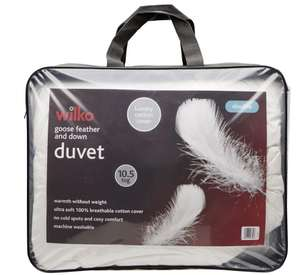 Wilko Goose Featherand Down 10.5 Tog Double Duvet £22.50 in store @Wilko