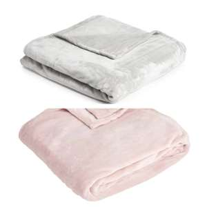 Silver, or Pink  Supersoft Throw 200 x 200cm - £8.00 @ Wilko -£2 Click & Collect/Instore