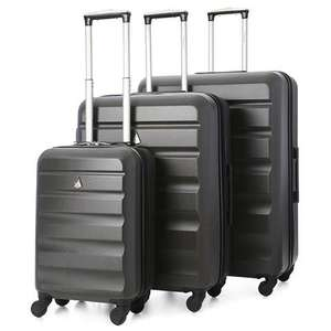 Aerolite Hard Shell Suitcase Set of 3 - £66.88 @ Travel Luggage Cabin Bags (Packed Direct)