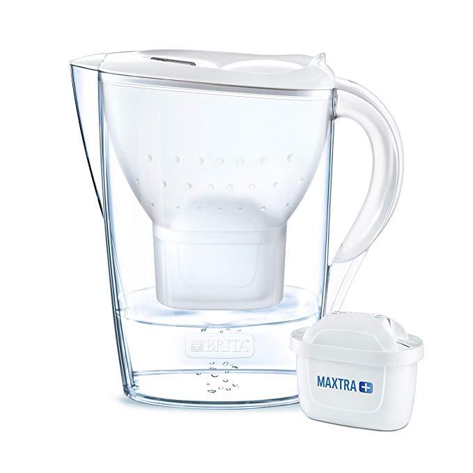 BRITA Marella water filter jug 2.4L, MAXTRA+, White - Fridge fit - £10.50 (Prime) £14.99 (Non-Prime) @ Amazon