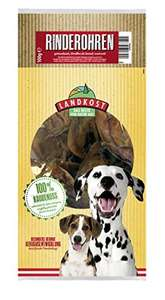 Landkost Beef Ears Pack of 7x100g for dogs £2.27 (Prime) / £6.76 (non Prime) at Amazon