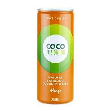 2 x Coco Fuzion 100 Natural Sparkling Coconut Water Mango 250ml - £1 (Free C&C) @ Holland & Barrett