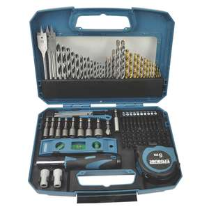 Erbauer Straight Shank Mixed Drill & Screwdriver Bit Set 100 Pieces - £17.99 instore or free C&C @ Screwfix