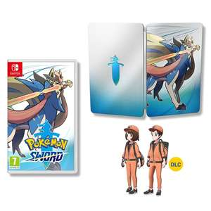 Pokémon Sword/Shield w/ Steelbook - Preorder  for in-store collection £39.99 @ Smyth Toys