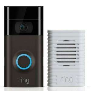 Ring WiFi Video Doorbell 2 and WiFi Enabled Chime £134.10 using code + free c/c @ Robert Dyas