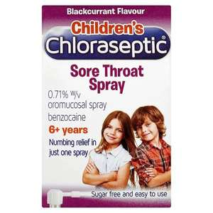 Children's chloraseptic throat spray 15ml, 50p @ Sainsbury's Telford Store, reduced from £5.50.