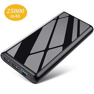 HETTP 25800 mAh Portable Charger Power Bank - £13.99 (Prime) / £18.48 (non Prime) Sold by HETP Driect and Fulfilled by Amazon.