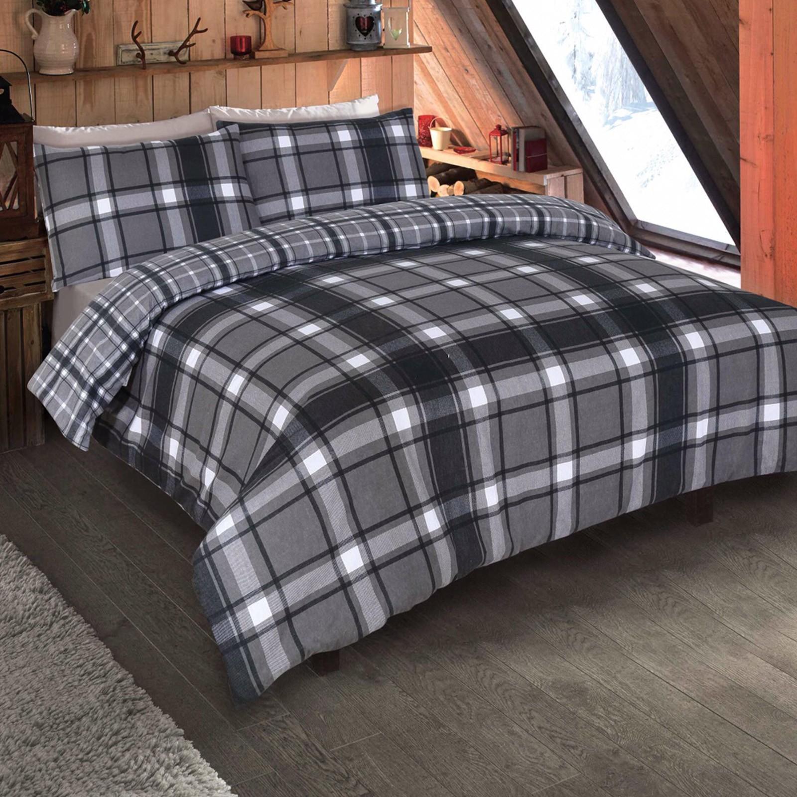 Dreamscene Aspen 100% Brushed Cotton Duvet Cover Set - Single £11.98 / £14.98 Double / £17.98 King Size delivered @ Online Home Shop