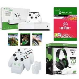 Xbox One S All-Digital Edition, Minecraft, FH 3, Sea of Thieves, FIFA 20, LIVE Gold, Twin Docking Station & Recon 70X Gaming - £189 @ Currys