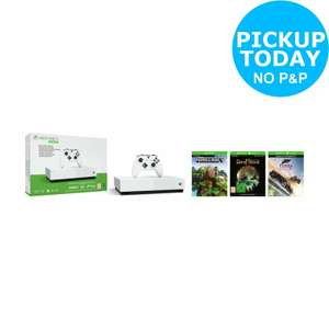 Xbox One S All Digital Edition & Minercraft + Sea of Thieves + Forza Horizon 3 - White £169.99 @Argos eBay
