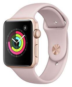 Refurbished Apple Watch S3 IOS Wi-Fi 8GB GPS 38mm Gold Aluminium Case Pink Sand Sport Band £156.99 @ Argos ebay