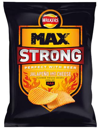 Walkers Max Strong Jalapeno & Cheese Crisps 150g 83p @ ASDA (Alsager)