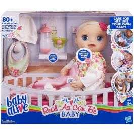Baby Alive Real As Can Be Baby Blonde Hair £34.99 @ Bargainmax