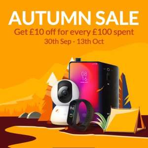 AUTUMN SALE, get £10 off for every £100 spent @ Mi