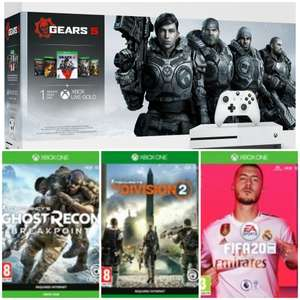 Xbox One S 1tb with Gears 1 - 5 (OR) Extra Controller & Fifa 20 & The Division 2 & Ghost Recon Breakpoint - £219.99 @ Argos
