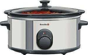 Breville ITP137 4.5L 3 Settings Ceramic Bowl Slow Cooker - Stainless Steel 265W £10.99 delivered @ Argos ebay