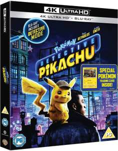 Pokémon: Detective Pikachu - 4K Ultra HD + Blu ray £10 @ Amazon (+£2.99 Non-Prime)