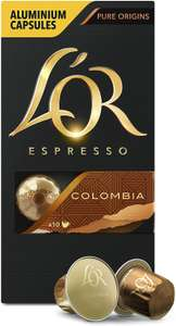 L'OR Espresso Colombia Intensity 8 - Nespresso* Compatible Coffee Capsules (Pack of 10, 100 Capsules in Total) £20 @ Amazon