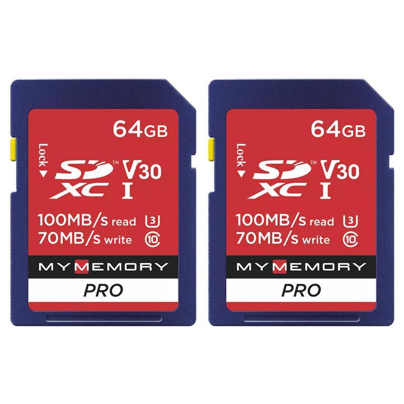 2 x 64GB MyMemory Pro v30 SD cards - £15.99 @ MyMemory