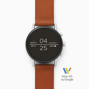 Skagen Falster 2 Smart Watch - Brown Leather Strap £189 @ Skagen (£152.15 Via Newsletter discount)