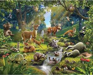 Walltastic Animals of The Forest Wallpaper Mural 8ft by 10ft, Multicoloured £12.99 at Amazon Prime / £17.48 Non Prime