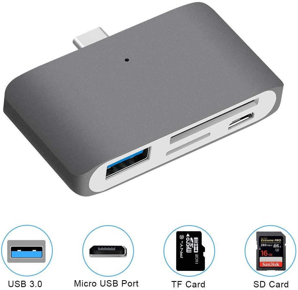 USB-C Reader for Micro USB, TF Card, SD Card and USB 3.0 £1.50 @ Amazon