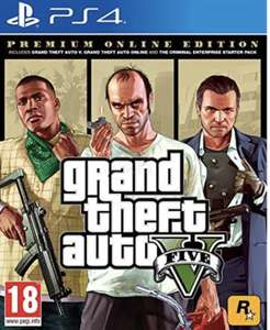 Grand Theft Auto V Premium Online Edition (PS4) £12.99 @ PlayStation store