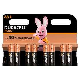 Duracell Plus Power Alkaline AA Batteries 2 packs for £8 at Asda