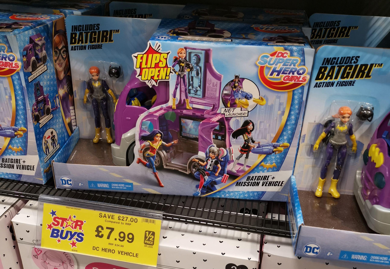 DC Super Hero girls mission vehicle £7.99 at Home Bargains instore