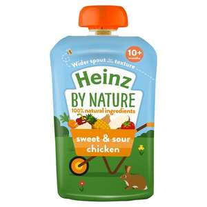 Heinz by Nature Baby Food - 4 pouches for £2 @ Tesco