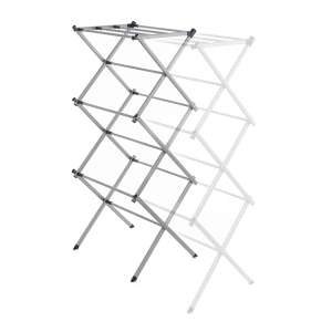 Addis Extendable 3-Tier Airer - Silver - £13.49 with code @ Robert Dyas - 3 Year Guarantee + free Click and Collect