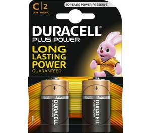 DURACELL LR14/MN1400 C Plus Batteries - Pack of 2 - Currys / Ebay for £1.79