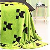 Minecraft Official Emerlald Fleece Throw | Green Creeper Design Super Soft Blanket @ Amazon - £7 Prime £11.49 Non Prime