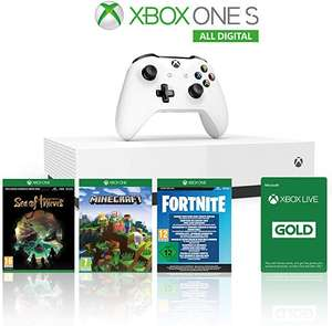 Xbox One S 1TB All Digital Edition Console + 1 Mese Xbox Live Gold + 3 Digital Games £142.40 delivered @ Amazon.it