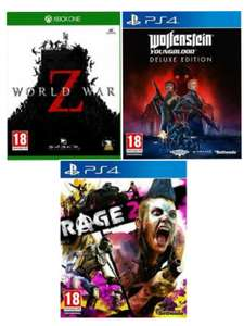Wolfenstein Youngblood Deluxe Edition (PS4) £13.99 / World War Z (X/O) £16.99 / Rage 2 (PS4) £16.99 (ex rentals) delivered @ Boomerang/eBay
