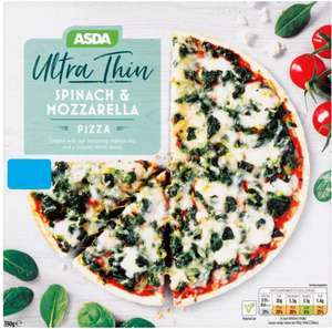 ASDA ultra thin spinach and mozzarella pizza 60p instore @ Asda Eastlands Manchester