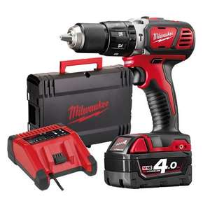 Milwaukee M18 BPD-401C M18 Drill, Charger, 4ah Battery & Kitbox £129 @ Milwaukee Power Tools